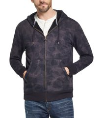weatherproof vintage men's textured camo fleece lined hoodie