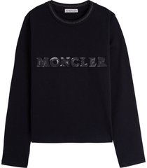 moncler sweater with sequins logo