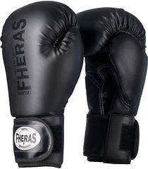 luva boxe muay thai fheras line top black in black - branco - dafiti
