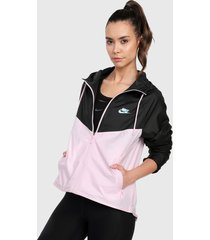 chaqueta rosa-negro nike w nsw wr jkt