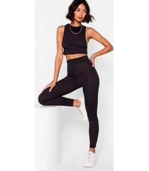 womens call rib even high-waisted leggings - black