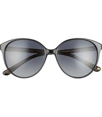 oliver peoples brooktree 58mm butterfly sunglasses in black/grey gradient polar at nordstrom