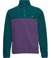 microfleece pullover sweat-shirt tröja lila lyle & scott
