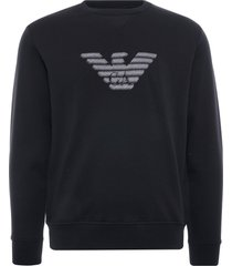emporio armani dashed eagle sweatshirt | nero | 3k1mp5-1jtnz