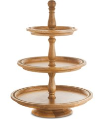 closeout! martha stewart collection wood 3-tier server, created for macy's