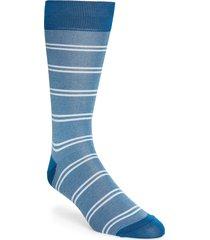 men's pantherella bird's eye stripe socks, size one size - blue/green