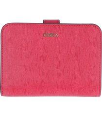 furla babylon bi-fold leather wallet