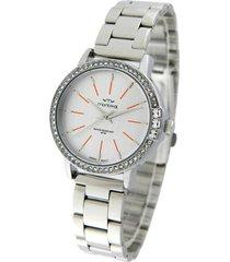 reloj plata montreal piedras