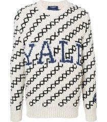 calvin klein 205w39nyc slouchy yale sweater - white
