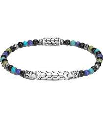 men's john hardy men's classic chain sterling silver bead id bracelet