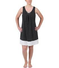 miss elaine printed sleeveless nightgown