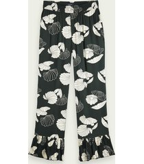 scotch & soda langere high-rise pyjama stijl broek