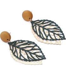 orecchini a forma di foglia pendenti orecchini a goccia in legno con foglie semplici stile per le donne