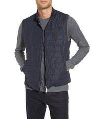 men's eleventy slim fit full zip vest, size xxx-large - blue