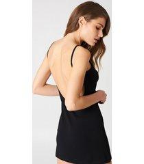 na-kd basic na-kd basic deep back dress - black