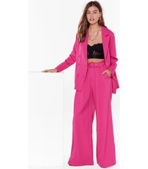 womens on the runway belted wide-leg pants - hot pink