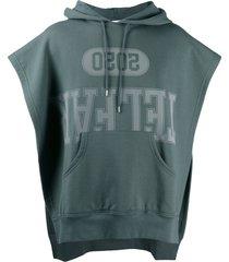 telfar open-side sleeveless hoodie - grey