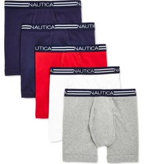 nautica men's 5-pk. cotton boxer briefs