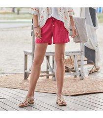 sundance catalog women's gigi gauze shorts in jade large