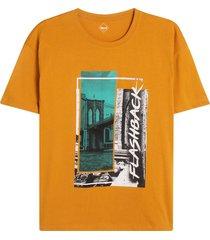 camiseta hombre flashback color amarillo, tallal