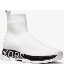 mk sock sneaker kendra in maglia stretch - bianco ottico (bianco) - michael kors