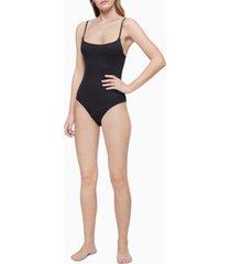 calvin klein women's pure ribbed bodysuit qf6446