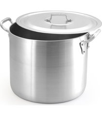 caldeirão alumínio 45 litros hotelaria restaurante com tampa