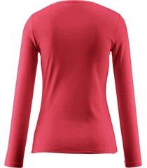 shirt van 100% katoen met ronde hals van bogner rood