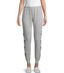 workshop women's french terry sweatpants - grey heather - size xl