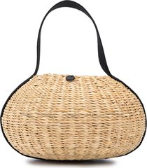 muun or straw tote bag - neutrals