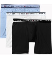tommy hilfiger men's flx evolve stretch boxer brief 3pk navy/white/light blue - m