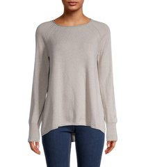 loro piana women's back-pleated cashmere sweater - shanghi - size 38 (4)