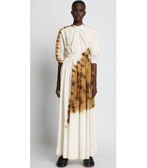 proenza schouler tie dye linen viscose dress 968 bronze multi/neutrals 12