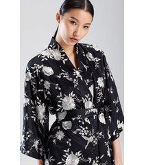 natori miyako robe, women's, black, size xs natori