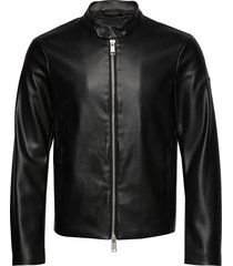man woven blouson jacket leren jack leren jas zwart armani exchange