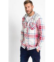 flanellen overhemd met capuchon