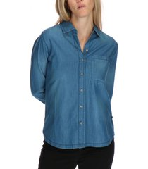 blusa distressed azul acero cat