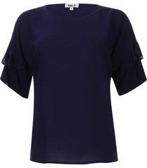 blusa con arandelas color azul, talla 10