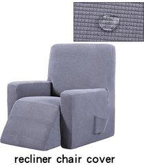 silla reclinable resistente al agua ala muebles sofá salón funda protector de la cubierta - gris claro