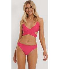 na-kd swimwear bikinitrosa i v-string - pink