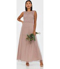 vila vilynnea maxi dress - noos festklänningar ljus rosa