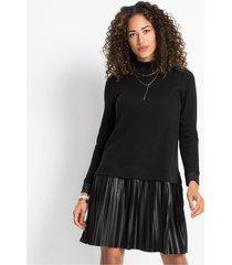jurk met plissé rok