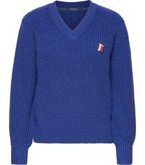 amsterdams blauw women stickad tröja blå scotch & soda