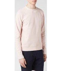 officine generale men's clement dyed sweatshirt - rosebud - xl