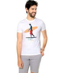 camiseta blanca-multicolor ocean pacific