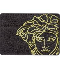 porta carte di credito portafoglio uomo pelle pop medusa