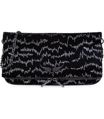 zadig & voltaire women's rock velvet bowie clutch - black