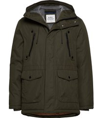 jackets outdoor woven parka jas groen edc by esprit