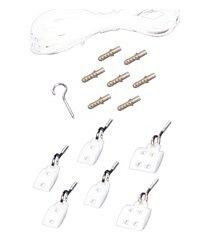 kit de acessórios reposição para varal de teto