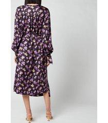 baum und pferdgarten women's ajana wrap dress - paris flower purple - eu 38/uk 10